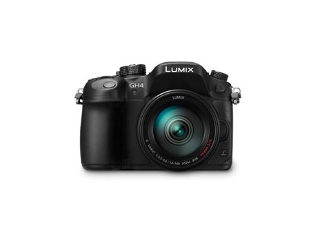 Panasonic LUMIX (DMC-GH4) with H FS14140 lens front rid