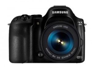 Samsung NX30 and 18-55mm_front