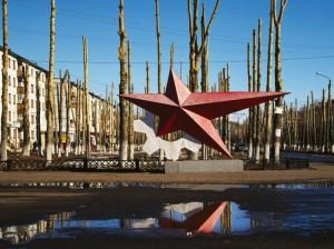 Gruzdeva, Red star monument