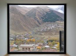 Mount Kazbek in frame, Georgia