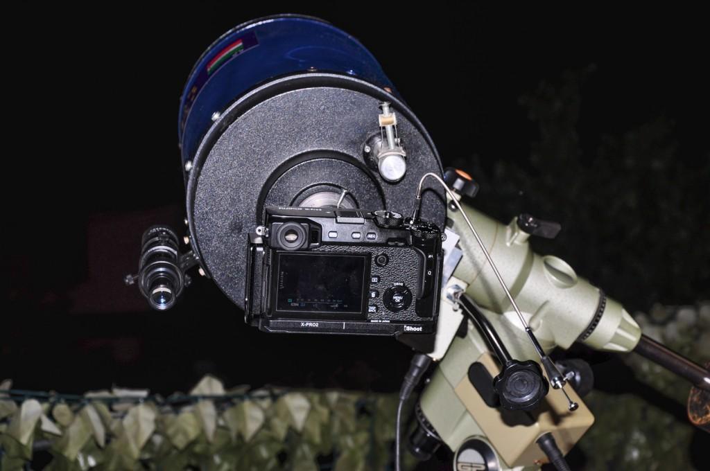 """Fotocamera Fujifilm X-Pro2 applicata al telescopio Meade – Smith Cassegrain 8"""""""